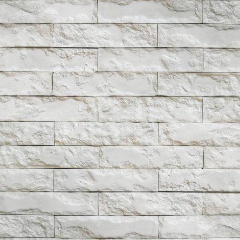 Кирпич Римский гипс белый рядовой