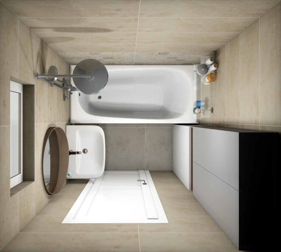 Дизайн интерьера ванной комнаты коллекция Free Space Tubadzin